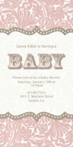 Mixbook Festival Floral Girls Baby Shower Invitations