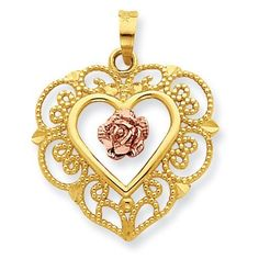 Tattoo Inspiration- Lace Trim and Pink Rose Center Heart