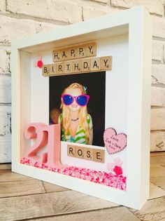 Birthday Frame Personalised Happy Birthday by MagicWonderCreations