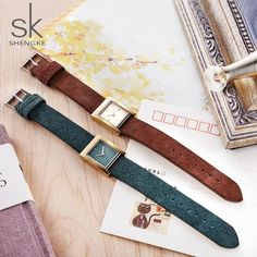 2018 SK New Lady Quartz Watch Floating Fluff Genuine Leather Women Fashion Watches Relogio Feminino New Year Gift With Free Box From Touchy Style Outfit Accessories. Cute Watches, Vintage Watches, Watches For Men, Style Store, Bff Necklaces, Look Fashion, Womens Fashion, Look Plus Size, Watches Photography