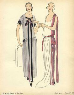 Pochoir print from La Gazette du Bon Genre, 1922