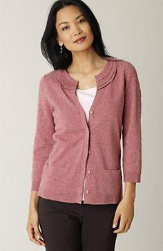tiered-trim cardigan from jjill.com
