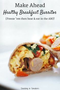 Looking for a healthy breakfast for meal prep? These make ahead breakfast burritos are just what you need! Nutritious and filling, this freezer meal...