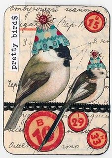 Vintage Altered Art Using Old Bingo Cards And Parts Atc Cards, Bingo Cards, Card Tags, Art Journal Pages, Art Journals, Junk Journal, Art Trading Cards, Decoupage, Paperclay