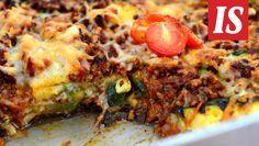 Maukas vähähiilihydraattinen jauhelihavuoka valmistuu grillatuista kasviksista ja jauhelihasta. Meatloaf, Vegetable Pizza, Quiche, Beef, Vegetables, Breakfast, Food, Meat, Morning Coffee
