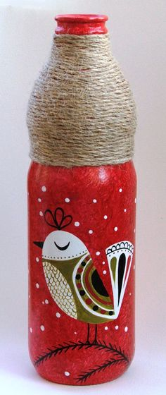 Botella pintada, $100 en http://ofeliafeliz.com.ar