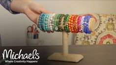 Making a stretch bracelet is creative, fast and fun. This demo takes you through simple steps to create and accessorize with stretch cord bracelets. SUBSCRIBE: ... About Michaels: Want to create something unique, get D. How, Bracelet, Ideas, Make, Jewelry, Cord,