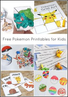 Free Pokemon printables for kids from And Next Comes L