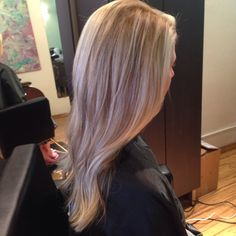Beige blonde highlight Blonde dimension