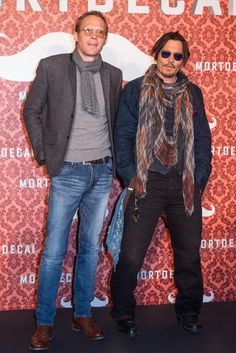 Johnny Depp and Paul Bettany wore their shades while promoting their movie Mortdecai in Berlin on Sunday.
