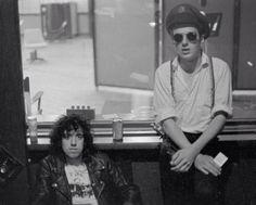 Joe Strummer and Mick Jones