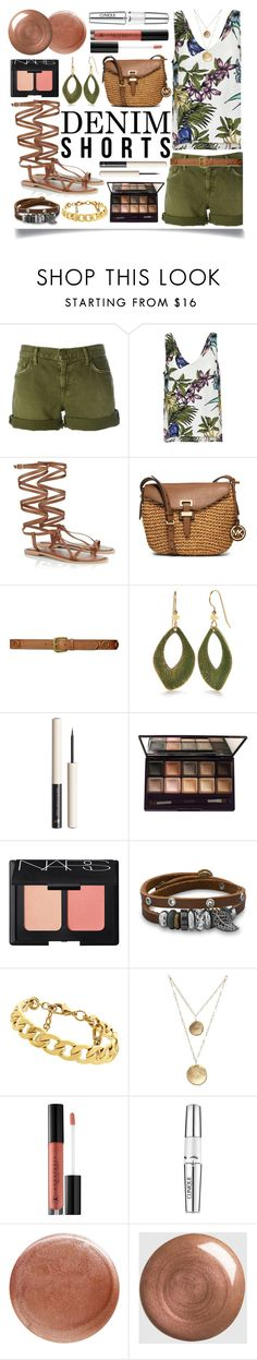 """""""The Final Cut: Denim Shorts"""" by ittie-kittie on Polyvore featuring Current/Elliott, Lipsy, MICHAEL Michael Kors, Lauren Ralph Lauren, Silver Forest, By Terry, NARS Cosmetics, BillyTheTree, Juicy Couture and Anastasia Beverly Hills"""