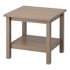 IKEA - HEMNES, Side table, gray-brown, , Solid wood has a natural feel.Separate shelf for magazines, etc. helps you keep your things organized and the table top clear.