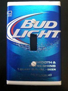 Bud Light Beer Light Switch Cover on Etsy, $5.00