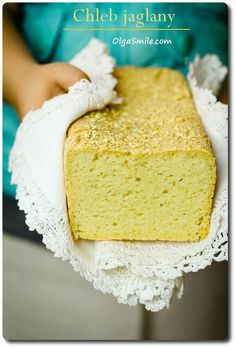 Chleb Jaglany z Olga Smile Millet Bread, Vegan Recipes, Cooking Recipes, Bread Bun, Vanilla Cake, Breakfast Recipes, Clean Eating, Food And Drink, Favorite Recipes