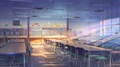 ArtStation - School cafeteria Arseniy Chebynkin - Back to School Anime Backgrounds Wallpapers, Anime Scenery Wallpaper, Landscape Wallpaper, Wall Wallpaper, Forest Wallpaper, Episode Interactive Backgrounds, Episode Backgrounds, Scenery Background, Animation Background