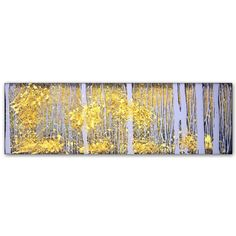 Found it at Wayfair - PanorAspens Grey Forest by Roderick Stevens Painting Print on Wrapped Canvas