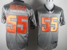 Nike Chicago Bears #55 Lance Briggs Gray Shadow Elite Jersey