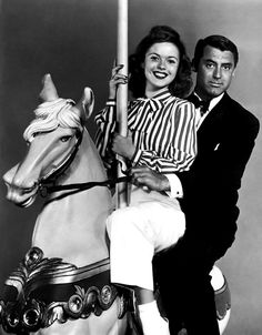 Cary Grant and Shirley Temple in a promotional photo for 'The Bachelor and the Bobby-Soxer', 1947.
