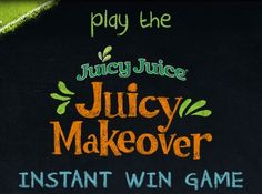 Juicy Juice has a brand new look and they are using this promotion to get you to notice their new packaging. There are $10,000 worth of sweepstakes prizes available in the JUICY JUICE Makeover Instant …