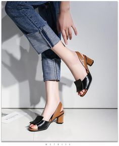 colour block upper sandals with shaped mid heel and sling back strap avai. colour block upper sandals with shaped mid heel and sling back strap avai. Buy Shoes, Me Too Shoes, Shoes Heels Pumps, Flats, Stiletto Pumps, Suri Frey, Block Sandals, Trendy Swimwear, Lace Up Shoes