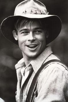 136698 06: Actor Brad Pitt from 'A River Runs Through It' September 15, 1991. (Photo by Liaison) via @AOL_Lifestyle Read more: http://www.aol.com/article/entertainment/2016/11/17/marion-cotillard-describes-sex-scenes-with-brad-pitt/21608230/?a_dgi=aolshare_pinterest#fullscreen
