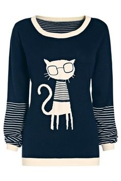 Favorite new sweater in a long time. :)   Cat Sweater from the Next UK online shop