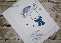 Jolly Friends Moose for FMS257 - http://sunnygirlscraps.com/jolly-friends-moose-for-fms257 I'm back with an adorable Clean and Simple card featuring the Jolly Friends Moose for Freshly Made Sketches FMS257.  I'm sad that Can You Case It? is no longer around so now I'm looking to participate in other challenges I've followed but not done.  This weeks Freshly M... #CAS #CleanAndSimple #FreshlyMadeSketches #HandmadeCards #JollyFriends #PaperCrafts Pa