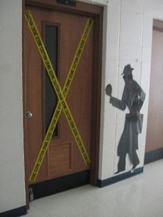 detective theme - evidence of success - wanted posters listing each kid's goals Could also put on wall to book fair Classroom Design, Classroom Themes, Classroom Organization, Organisation Ideas, Classroom Door, School Classroom, Detective Theme, Detective Aesthetic, Secret Agent Party
