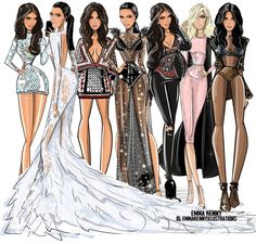 Kim Kardashian Kollection by @emmakennyillustrations| Be Inspirational ❥|Mz. Manerz: Being well dressed is a beautiful form of confidence, happiness & politeness