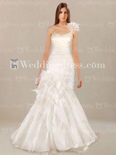 Sirène une épaule robe de mariage €189,26
