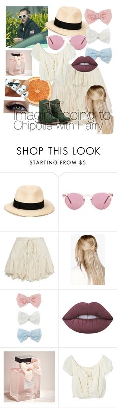 """Harry Styles clothes imagine"" by sarahosterbrink ❤ liked on Polyvore featuring Eugenia Kim, Oliver Peoples, Boohoo, Decree, Lime Crime, Abercrombie & Fitch, Jens Pirate Booty and JJ Footwear"