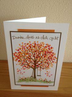 Kreative-Engelmama, Stampin´Up!, Baum der Freundschaft, Glutrot, Kürbisgelb, Osterglocke, Wildleder, Farngrün, Danke, Global Design Project