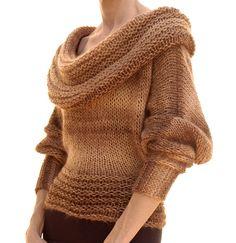 the Cowl Collar Sweater PDF Pattern von karenclements auf Etsy, $6.50