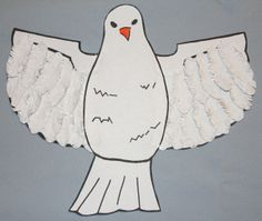 White Dove    This craft can be done for different bible stories and adapted for each one. It is very versatile.    http://craftingthewordofgod.wordpress.com/2013/03/23/white-dove/# white dove, craft, bible stories, bibl stori, bibl classcradl