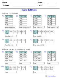 math worksheet : long ision decimal and division on pinterest : In And Out Math Worksheets
