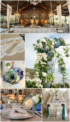 Rustic-Chic Wedding with Blue & Purple Details | Photography by Next Exit Photography. Read more: https://www.insideweddings.com/weddings/melissa-claire-egan-and-matthew-katrosar/588/.