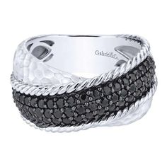 Wide Silver and Spinel Twist Fashion Ring by Gabriel from Ben Garelick Jewelers http://qoo.ly/fx2hq