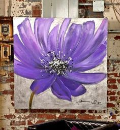 The Frisian bloom in lavender tones eases the spirit and revitalizes any room! Acrylic Flowers, Diy Canvas Art, Arte Floral, Painting Inspiration, Flower Art, Watercolor Art, Modern Art, Art Projects, Decoration