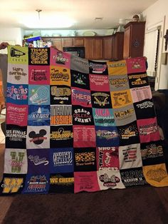 #Cheer #tshirtquilts www.ProjectRepat.com