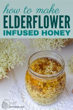 Elderflower honey is a delicious herbal infused honey that can be used to sweet anything from herbal teas to baked goods. Perfect for a unique and fun summer treat, plus you get the health benefits from all of that elderflower goodness. Herbal Remedies, Natural Remedies, Health Remedies, Healthy Oils, Healthy Recipes, Tomato Nutrition, Coconut Health Benefits, Honey Recipes, Soap Recipes