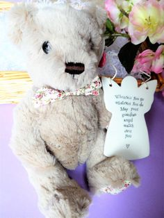 Teddy and Angel Baby Christening Gift Basket