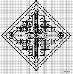 Blackwork Cross Stitch, Blackwork Embroidery, Hand Embroidery Patterns, Cross Stitching, Cross Stitch Embroidery, Cross Stitch Kits, Cross Stitch Charts, Cross Stitch Patterns, Graph Paper Art