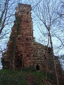 Yester Castle is a ruined castle, located 1.5 miles (2.4 km) south east of the village of Gifford in East Lothian, Scotland. The only remaining structure is the subterranean Goblin Ha' or Hobgoblin Ha' (Goblin Hall).[