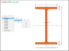 Steel Sections: USA: JFE Super HISLEND-H (2) CAD Format: AutoCAD 2013  Block Type: 2D Dynamic (1x56 Lookup Tables)  Units: mm  Description:  A dynamic block made using the ANSI Tables.  The block is parametric and uses lookup tables to produce 56 different blocks. The block can be edited to user dimensions with the standard AutoCAD Properties editor Steel Properties, H 1, Cad Blocks, Autocad, Editor, Tables, The Unit, Type, Mesas
