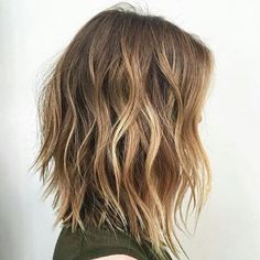 52 Sexy Long Bob Hairstyles You Should Try - Hairstyles Trends Medium Hair Cuts, Short Hair Cuts, Short Hair Styles, Short Thick Hair, Pixie Cuts, Layers For Thick Hair, Long Bob With Layers, Short Thick Wavy Hair, Wavy Bob Long