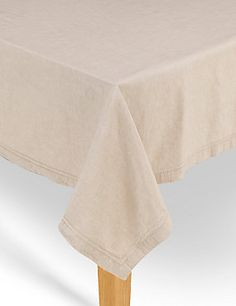 White Hemstitched Table Cloth #SS15Home