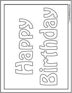 55+ Birthday Coloring Pages: Customizable PDF | Cake ...