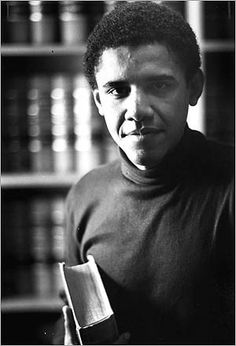 Obama broke racial barriers early in his career when he was elected the 1st black president of the Harvard Law Review during his second year at the university.