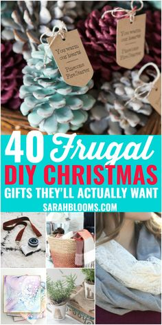 40 DIY Gifts Perfect for Any Occasion : They'll never guess how easy + inexpe. , 40 DIY Gifts Perfect for Any Occasion : They'll never guess how easy + inexpensive these DIY Christmas Gifts actually are! These Easy + Frugal DIY Chr. Frugal Christmas, Inexpensive Christmas Gifts, Diy Christmas Gifts For Family, Handmade Christmas Gifts, Diy Homemade Christmas Gifts, Diy Gift Ideas For Christmas, Homemade Gifts For Christmas, Creative Christmas Gifts, Christmas Presents